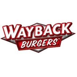 Logo for Wayback Burgers - W Butler